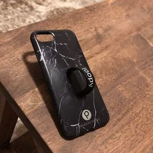 Loopy iPhone 6/7/8 case black marble